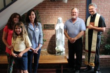 Blessing of Mary at St. Gabriel School