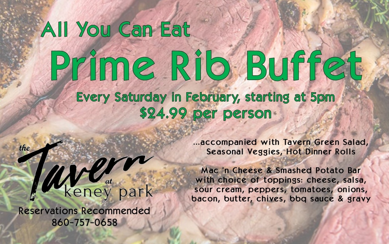 All you can eat Prime Rib Buffet