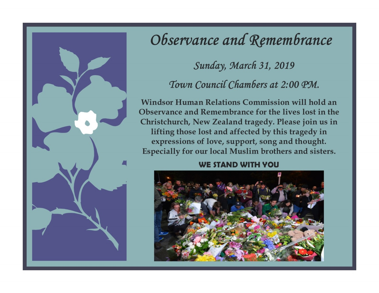 Observance and Remembrance Ceremony